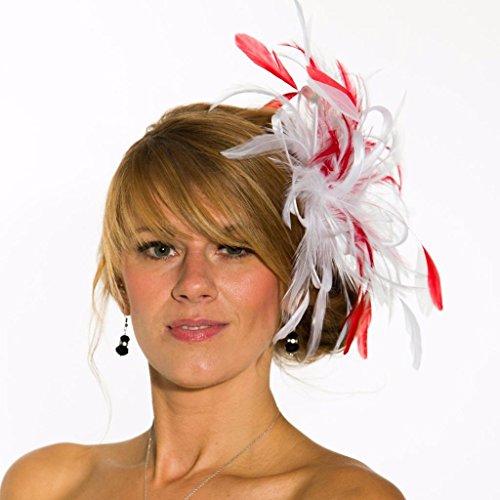 Maighread Stuart Millinery - Bandeau - Femme Multicolore - Blanc/rouge