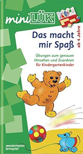 miniLÜK / Kindergarten / Vorschule: miniLÜK: Das macht mir Spaß: Übungen zum genauen Sehen und Zuordnen für Kindergartenkinder