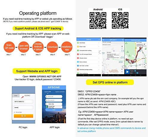 GPS Tracker TK103/A controllo del PC version software Google Maps Link Real Time Tracking app scanner GPS Car Tracker con GPRS e veicolo sistema di protezione antifurto