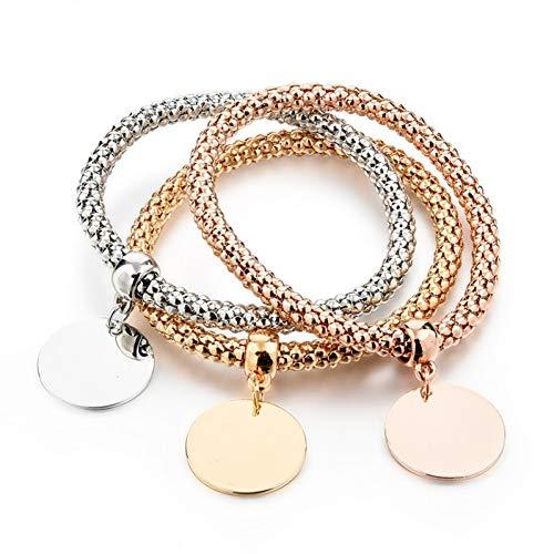 zierliche Schmuck Lebensbaum Herz Bracelet & Bangles Popcorn Chain Set Freundschaft Distanz Armbänder Geschenk ()