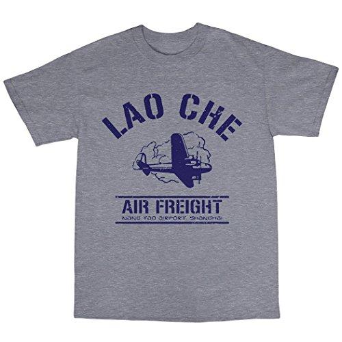 Lao Che Air Freight T-Shirt 100% Baumwolle Grau