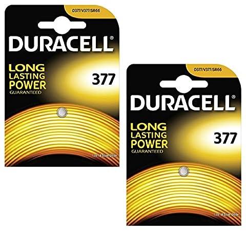 Duracell 2x AG4377SR626SW SB-AW Pile oxyde d'argent pour montre