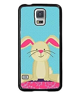 PrintVisa Designer Back Case Cover for Samsung Galaxy S5 :: Samsung Galaxy S5 G900I :: Samsung Galaxy S5 G900A G900F G900I G900M G900T G900W8 G900K (Cartoon Pink Child Teddy )