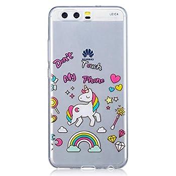 Huawei P10 Hülle Silikon Transparenter Ultra Dünner Tpu Weicher Handy Hülle Dechyi Kunstmalerei Serie Handyhülle Huawei P10einhorn 1
