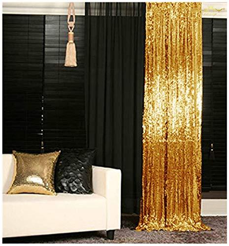 ShinyBeauty 180x215cm Gold Pailletten Kulissen-Pailletten Vorhang Gold 6FTx7FT, Gold Pailletten Stoff, Stoff Hintergründe, Hochzeit Pailletten Vorhänge, Pailletten-Panels, erröten Home Decor