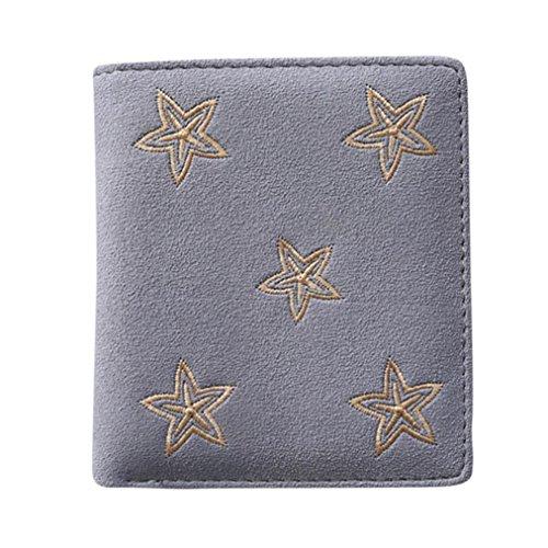 Kangrunmy portafoglio fossil donna,donna stella stampa frizioni portafoglio borsa cardbag tote signore borse (azzurro)