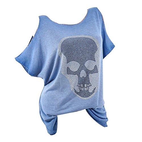 Hibote Blusas de Las Mujeres del Verano Camisa de Blusa de Hombro...