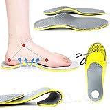 Ewin24 3d premium Chaussures confortables orthopédiques Semelles Inserts Haute Arche Pad soutien pour les femmes les hommes (taille L)