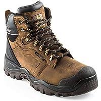 Buckler Bsh009br Buckshot Dark Brown Lace Waterproof Safety Boots - Uk Sizes 6 -13 UK 6 (EU40)