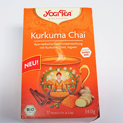 Yogi Tee Kurkuma Chai - 17 Tee Beutel - Yogi Tea - Goldene Milch- AB 30,- EURO VERSANDKOSTENFREI!