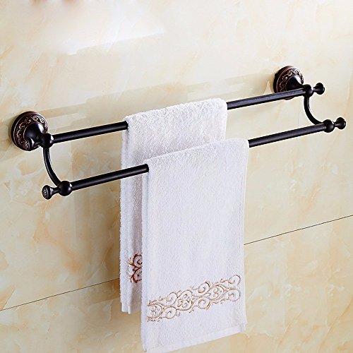 ZHGI Bronzo nero a doppia porta asciugamani