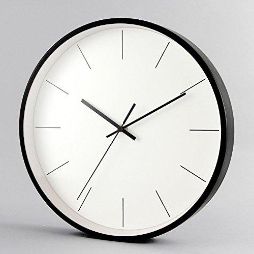 GuoEY Moderne Wanduhr Quarz simplemetal 12 cm minimalistische Einrichtung der Persönlichkeit für das Schlafzimmer Wohnzimmer - B 12 Zoll
