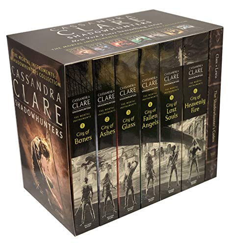 Cassandra Clare The Mortal Instruments A Shadowhunters 7 Books Collection Set (Bones, Ashes, Glass, Fallen Angels, Lost Souls, Codex and More) (Mortal Instruments Set)