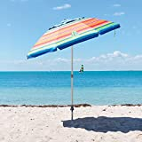 Tommy Bahama 7ft Beach Umbrella in Flip Flop Stripe
