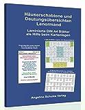 Häuserschablone und Deutungsübersichten Lenormand: Laminierte DIN A4 Blätter als Hilfe beim Kartenlegen - Angelina Schulze