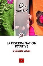 La discrimination positive de Gwénaële Calvès