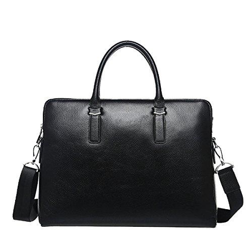 Yy.f Leder Mann Tasche Handtasche Erste Schicht Aus Leder Diagonal Paket Freizeit Mappen Taschen Für Männer Drei Farben Black