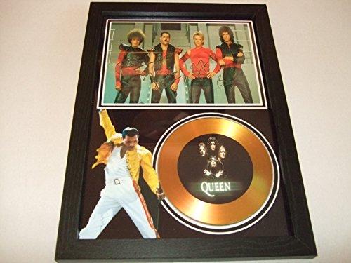 gold disc frames Disco Dorado con Texto Queen