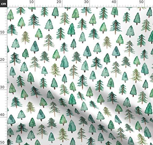 Oneill-baum (Weihnachten, Baum, Weihnachtsbaum, Wald Stoffe - Individuell Bedruckt von Spoonflower - Design von Elena O'neill Illustration Gedruckt auf Bio Musselin)