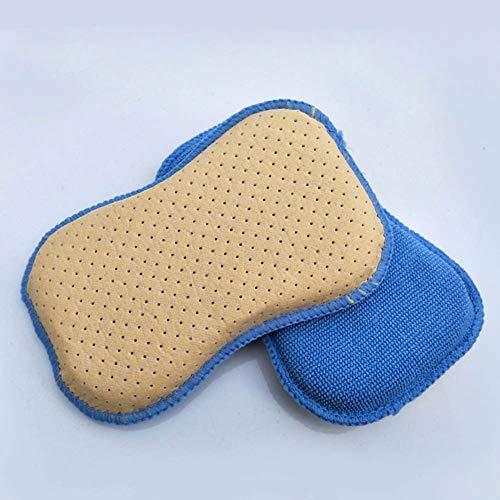 Mgcdd- Car Sponges 2 Stück Vlies Perle Handtuch Kleinen 8-Förmigen Schwamm Auto Entnebeln Glas Schwamm Reinigung Doppelseitige Wischtuch
