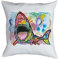Hai Dekokissen   Meerestiere Kissen Hai   Haimotiv : Shark    Hai Motiv  Kissen