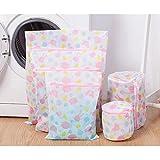 5Pcs Mesh Laundry Bags with Zipper Underwear Clothes Aid Bra Washing Machine Net Mesh Bag Travel Organizers