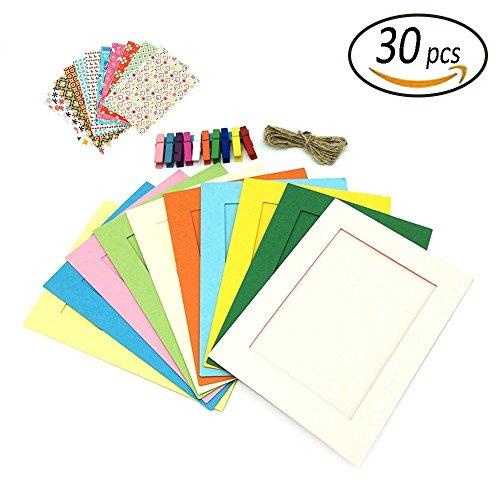 REKYO Wand Dekor DIY Papier Fotorahmen, Foto Display - passt Bilder, DIY hängen Papier Fotorahmen (5