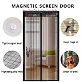 DULPLAY Schwarz Leise Fliegengitter,DIY-magnetismus Anti-Fehler Bildschirm Net Tür Entfernbar Mesh-Vorhang Halten Sie die wanze Insekt und ausfliegen-A 120x210cm(47x83inch)
