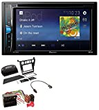 caraudio24 Pioneer AVH-A100DVD AUX USB 2DIN MP3 DVD CD Autoradio für BMW 5er (E60 2003-2007)