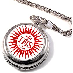 Jesuit Sun Christianity Full Hunter Pocket Watch