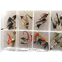 /Jede mit verschiedene klassischen und modernen Designs f/ür S/ü/ßwasser Fladen Angeln Fly Auswahl Packungen von 8/bis 10/Fliegen/ 10/und 12/Haken/ /Decken Wet Dry Nymphs Gr/ö/ße 8