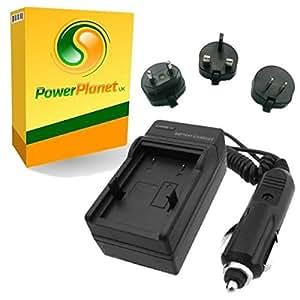 PowerPlanet Samsung IA-BP80W, IA-BP80WA Chargeur de batterie rapide (comprend l'adaptateur pour automobile et les prises EU et GB, USA) pour Samsung SC-D381, SC-D382, SC-D383, SC-D385, SC-D391, SC-D392, SC-D391, SC-D392, SC-DX100, SC-DX103, SC-DX105, SC-DX200, SC-DX205