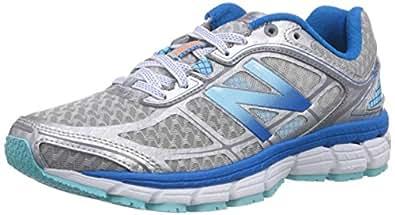 New Balance  W860 B V5, Chaussures de running femme - Argent - Silber (SB5 SILVER/BLUE), 36.5 EU