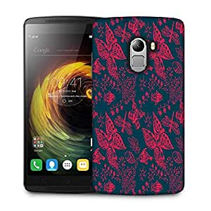 Snoogg Red Buttefly Designer Protective Phone Back Case Cover For Lenovo Vibe K4 Note