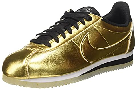 Nike Damen Wmns Classic Cortez Leather Se Trainer, Gold (Metallic Gold/Metallic Gold/White/Black), 38.5