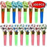 The Twiddlers 100 silbatos de soplado – en una Mezcla de Múltiples Diseños – Ideal para Piñata Juguetes Rellenos – Bolsas de Fiesta – Navidad, Halloween, Cumpleaños, etc.