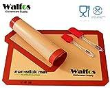 Walfos Silicone Baking Mat-Set of 2 Half Sheet (Thick & Large 11 5/8 x 16 ...