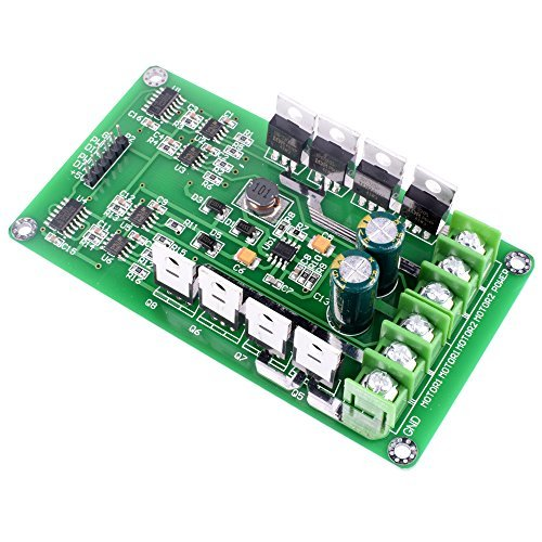 Dual Motor Treiber Modul, Quimat DC H-Brücke 3-36V 15A Motor Treiber PWM Modul Leiterplatte MOSFET Treiber Motor Driving Board for Arduino Robot Smart Car QY04