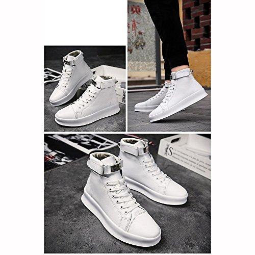 XIAOLIN Scarpe Alte Scarpe Casual Scarpe Sportive Aumentare Versione Coreana Tendenza Scarpe Da Marea ( Colore : White+pad , dimensioni : EU39/UK6.5/CN40 ) White+pad