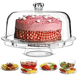 Dine@Drinkstuff - Multifuncional 5 en 1 soporte de la torta y cúpula | dine@drinkstuff bóveda de la torta, ponche, ensaladera, chip & dip server, que sirve de soporte, cúpula de alimentos