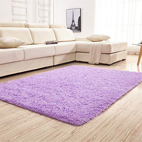 Trayosin shaggy, tappeto a pelo lungo morbido per soggiorno, camera da letto, cameretta dei bambini, sala da pranzo, tessuto, lilla, 80 x 200 cm