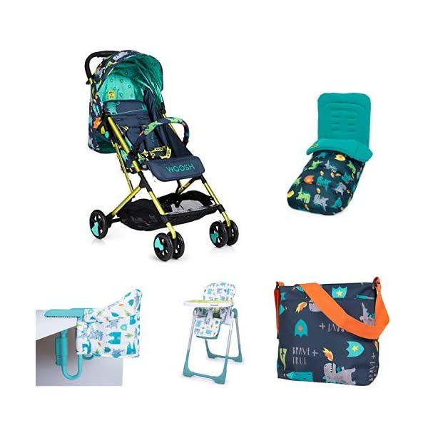 Cosatto Dragon Kingdom Matching Bundle Set Cosatto Suitable from birth to max weight of 25kg, lets your toddler use it for even longer The Cosatto Footmuff warms the cockles of hearts It is literally one huge hug for your dot; it is custom crafted to fit your Cosatto pushchair perfectly Make a change with our changing bag 1