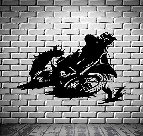 Wandaufkleber Kinderzimmer Motorrad Racer Dirt Bike Motorsport (Bike Gold Dirt)