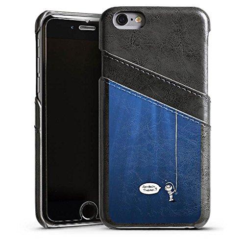 Apple iPhone 5s Housse Étui Protection Coque Plongeur Eau Water Étui en cuir gris
