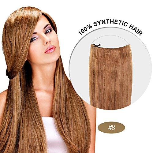 Secret Hair/ Flip-In Hair 20 Inches Invisible Attached Straight Hair / Balabella Hair (Ash Brown(#8))