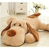 """gigante perro de peluche buen compañero animal de felpa 47 """" 120cm marrón claro"""