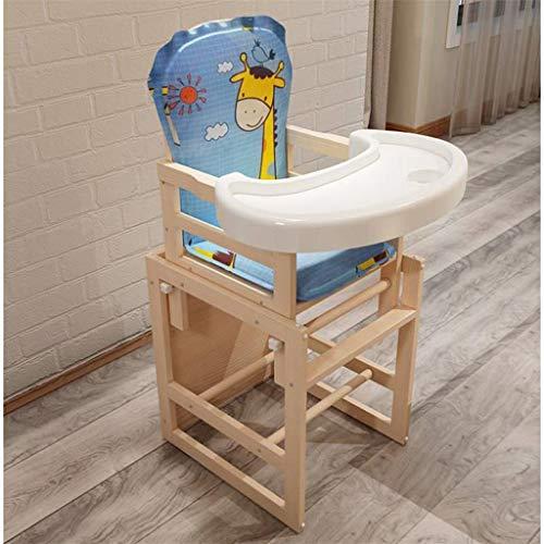 JJJJD Baby-Säuglings-Kombikinderhochstuhl, multifunktionaler Abnehmbarer gepolsterter Sitz aus Holz für Kinder Toddle Dinning Chair Tisch mit Kissen mit kühler Matte, Mehrfarbig optional (Farbe : C) -