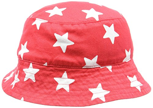 Toby Tiger Red and White Star Reversible Hat, Bob Mixte, Rouge, 1 Mois