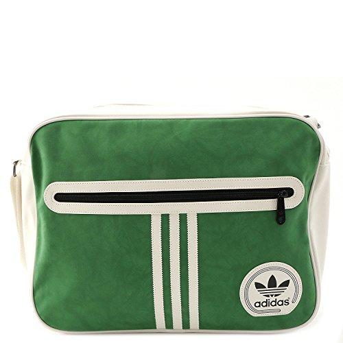 adidas Umhängetasche Suede Airliner, Chalk White/Green, 12.5 x 29 x 38 cm, 14 Liter, AJ8424 (Adidas-symbol)
