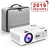 QKK 2200 Lumens LCD Projector, Mini Home Theater Projector, Supports 1080P Full HD
